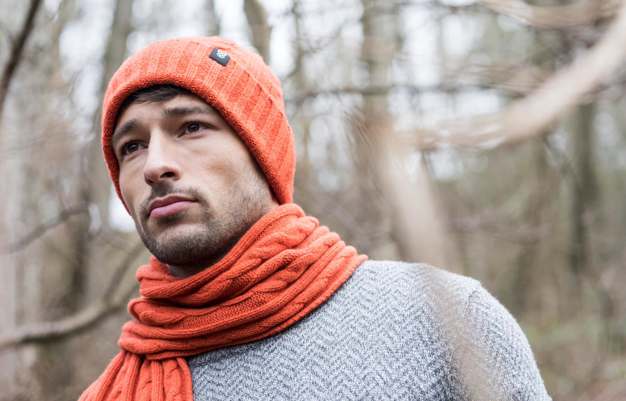 Man wearing Robert Mackie knitwear